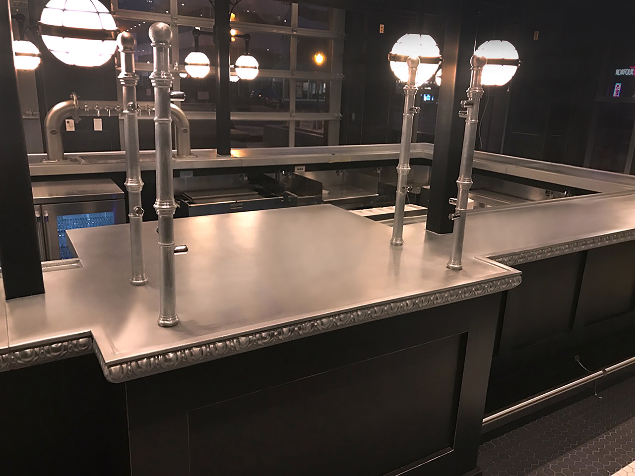Cast Pewter Custom Bartop Accent - La Bastille