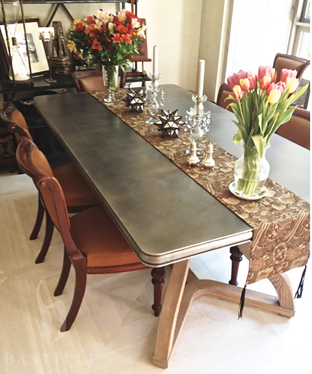 Cast Zinc Statement Dining Room Table - La Bastille