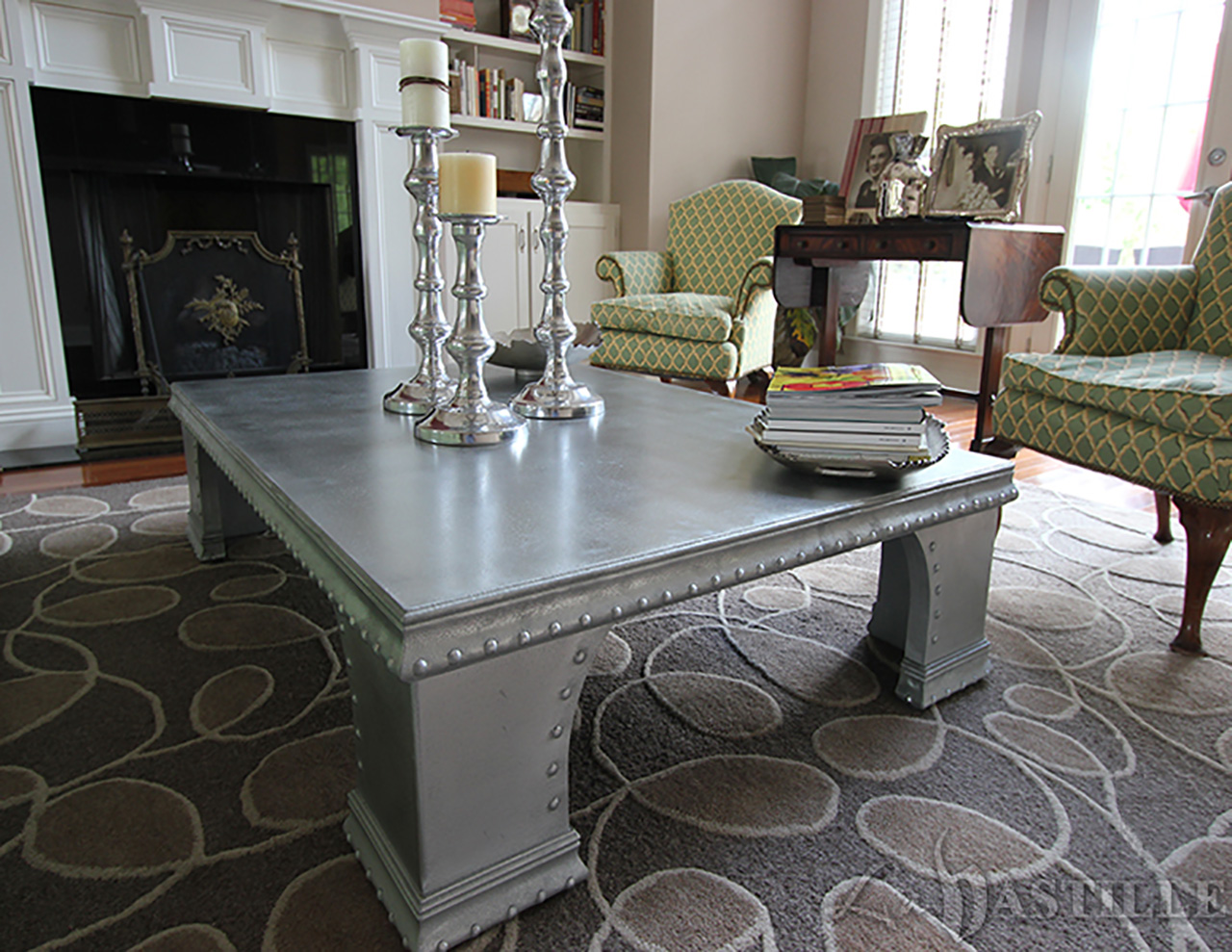 Cast Zinc Statement Coffee Table - La Bastille