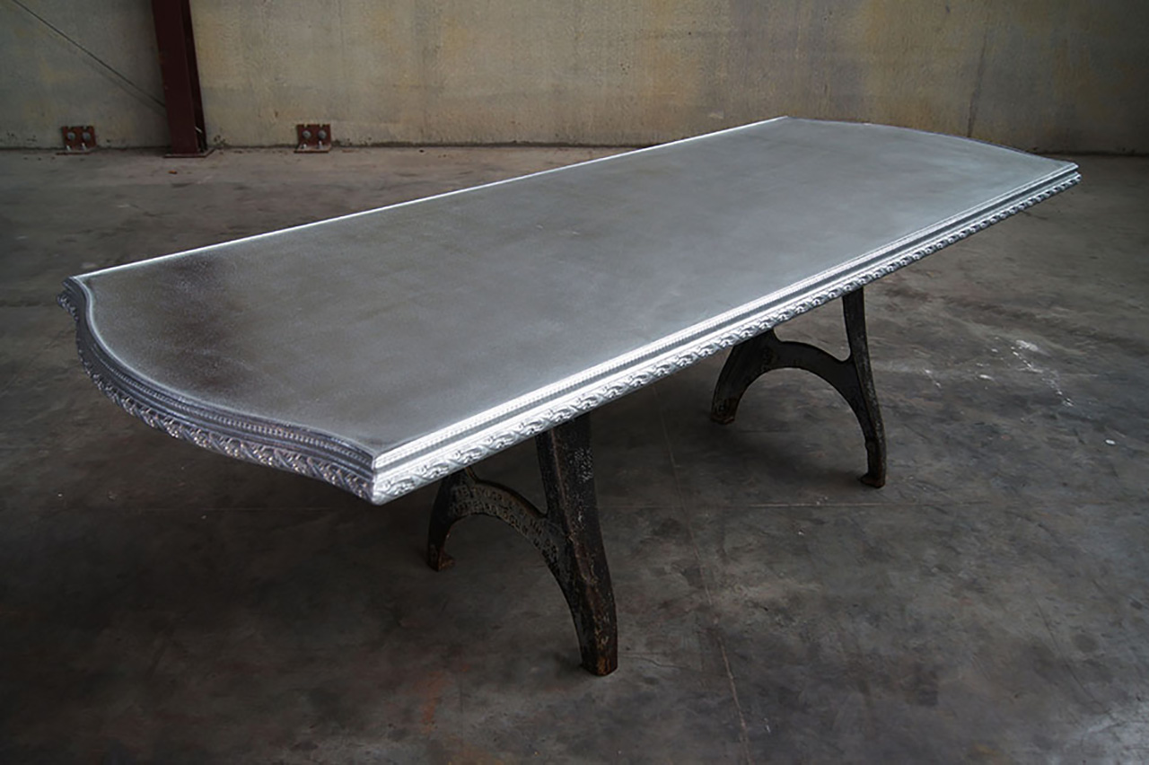 Cast Pewter Statement Table - La Bastille