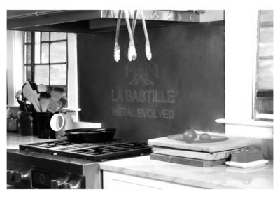Zinc Backsplash - La Bastille