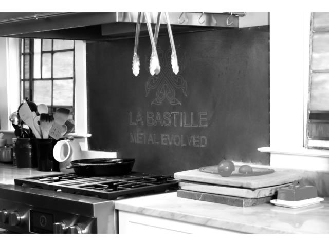 Zinc Backsplash - La Bastille