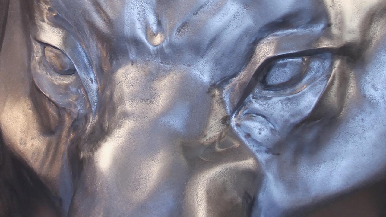 Cast Pewter Lion Sculpture - La Bastille
