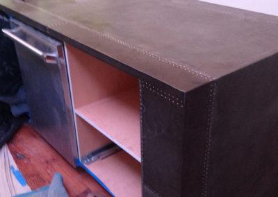Sheet Zinc Countertop - La Bastille