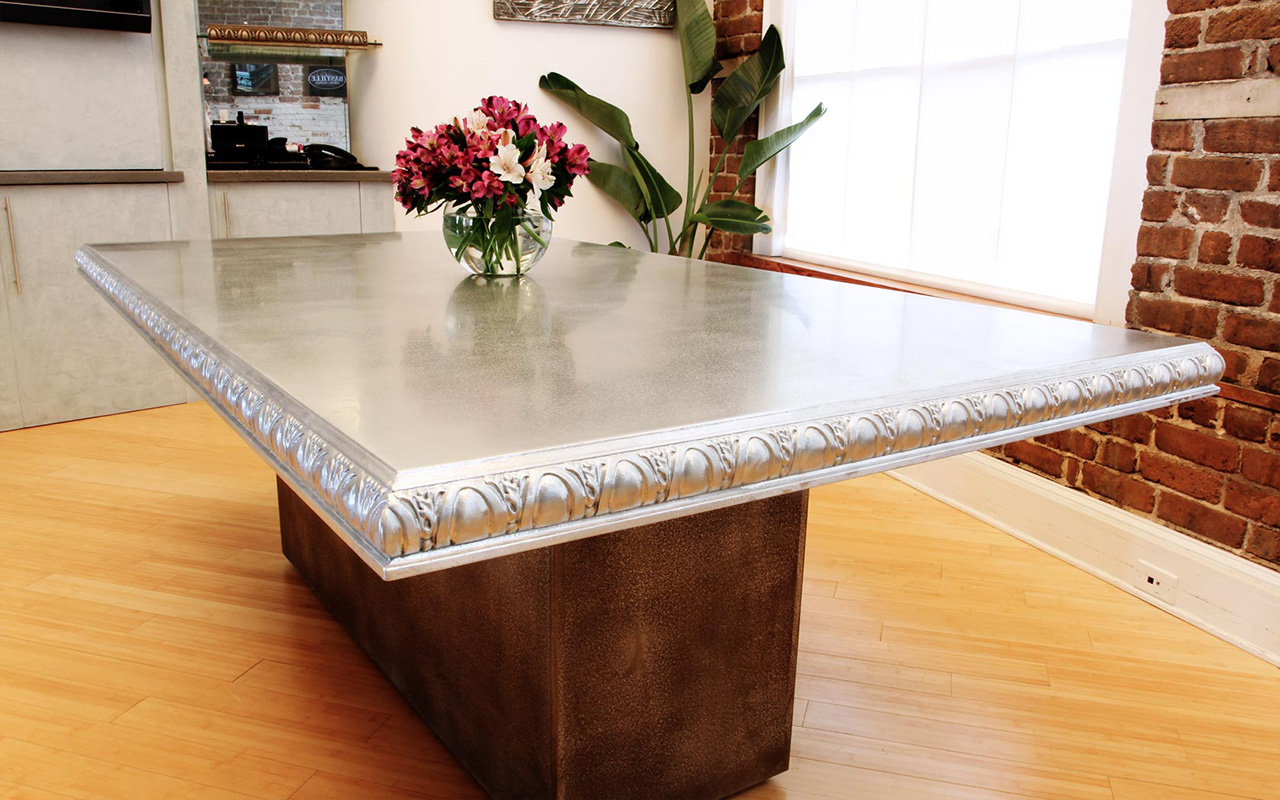 Cast Pewter Statement Conference Table - La Bastille
