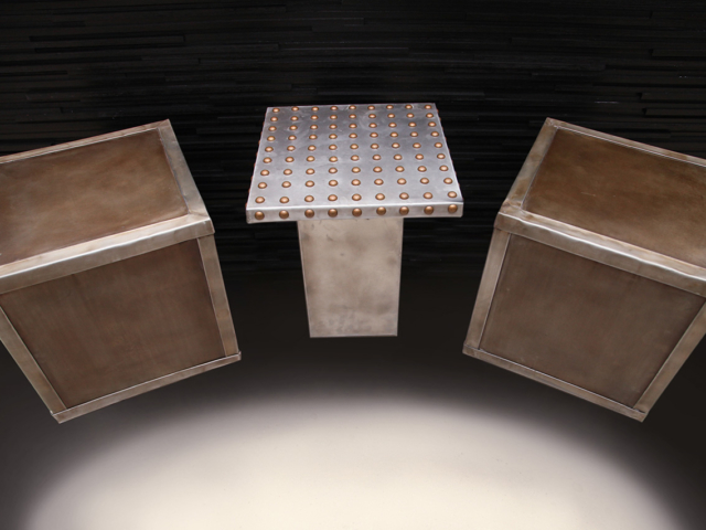 Cast and Sheet Zinc Assorted Seating - La Bastille