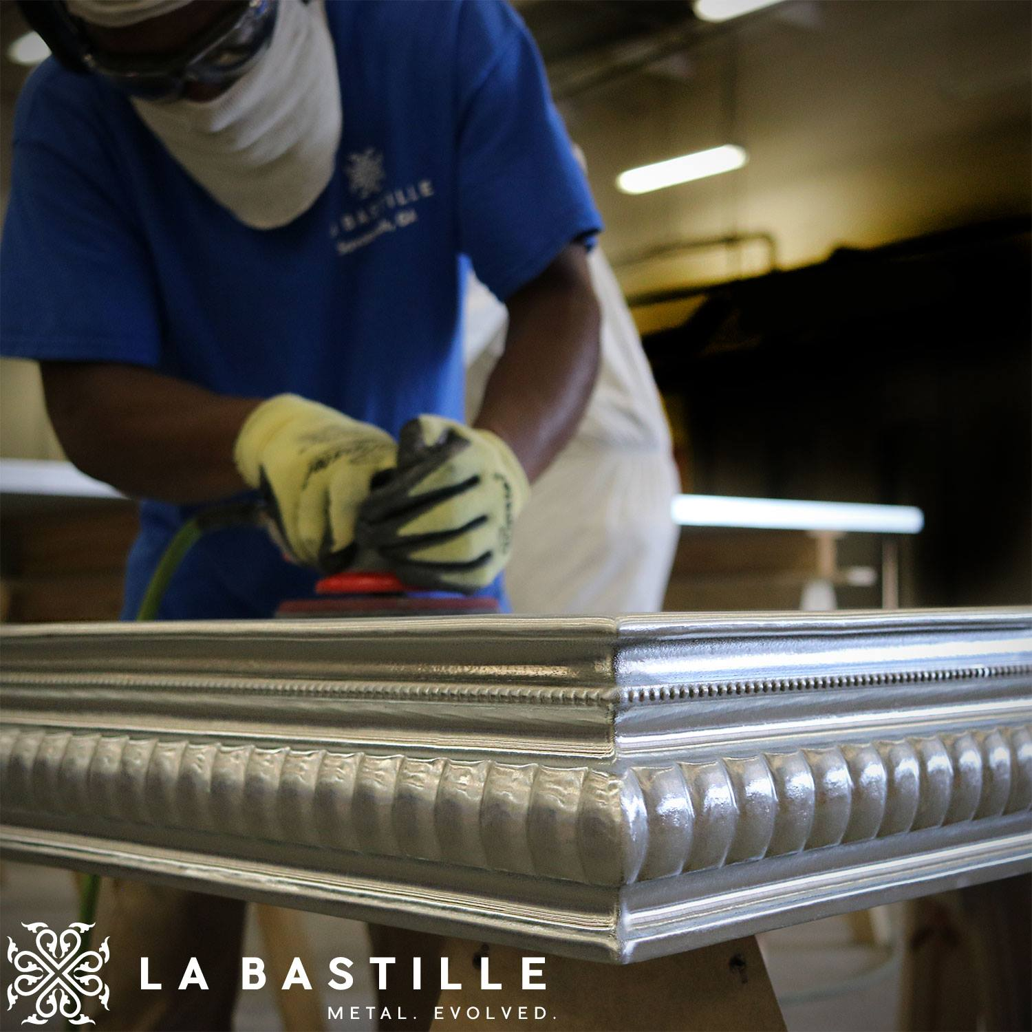 La Bastille is the leading producer of custom cast zinc countertops and custom cast pewter countertops in the world. We handcraft each countertop, as well as design and build cast zinc range hoods, cast pewter range hoods, one-of-a-kind zinc statement tables,  zinc sculptural features, and a multitude of metal architectural accents. Each unique project is designed and crafted with your individual choice of edge profile, metal, and finish, making each project a beautiful work of art designed in partnership with our clients. In addition to our custom pieces, The Bastille Collection, coming in 2018, will offer an exclusive line of limited production tables, range hoods, & furniture accessories designed exclusively by our team. These semi-custom pieces are the embodiment of our favorite concepts from years of experience in design, fabrication, and experimentation. La Bastille was established in 2010, and we are a growing group of designers and artisans based out of Savannah, Georgia. We tackle projects large and small for some of the most well-known designers and restaurateurs around the globe. We pride ourselves in undertaking complex designs with cutting-edge approaches. We co-design each custom project with our clients, championing practical design solutions. The result is a one-of-a-kind statement piece, fabricated to last. Our success is a blend of fearless artistry, traditional craftsmanship, superior service, and a strong commitment to community involvement. Our name, La Bastille, comes from the famous fortress in Paris which is famously symbolic of transition and rebellion. The Storming of the Bastille on July 14, 1789, marked the beginning of the French Revolution. Taking inspiration from this important moment in history, we aspire to revolutionize centuries-old materials with new technology and innovation, creating fresh and current designs steeped in history and tradition.